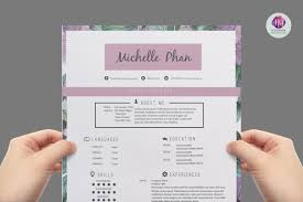 Floral Cv Template Design Resume Templates On Thehungryjpeg Com