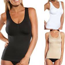 Womens Cami Body Shaper Genie Bra Tank Top Firm Tummy