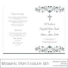 Wedding Ceremony Templates Free Free Catholic Wedding Program Template Graphic Design