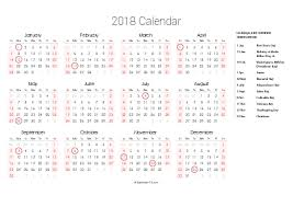 yearly printable calendar 2018 printable 2018 calendars pdf calendar 12 com