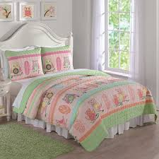Owl Stripe Full/Queen Quilt | Full/Queen Size | Quilt Set | Quilts ... & Owl Stripe Full/Queen Quilt and Shams Adamdwight.com