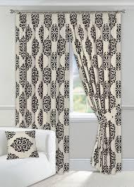 black cream curtains 90 x 90 fl design fully lined 2 tie backs