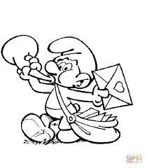 Smurf De Postbode Kleurplaat Gratis Kleurplaten Printen