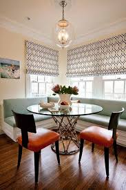 bench transform banquette with round table for pictures design