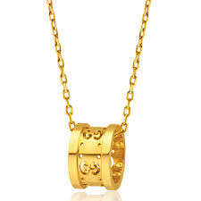 gucci necklace gold. gucci 18ct yellow gold icon twirl pendant image-a necklace n