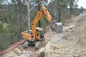 boulder wall construction