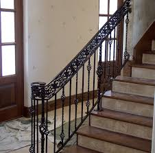 metal stair handrail. Perfect Metal Wrought Iron Stair Railing Throughout Metal Handrail A