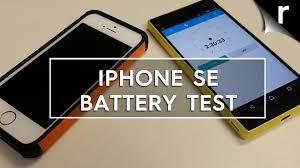 iphone se batarya testi