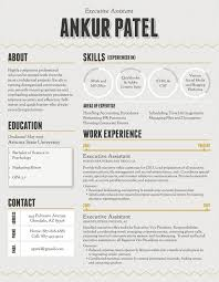 Executive Creative Resume Templates