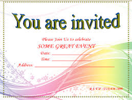 Printable Blank Invitation Templates Free Invitation Templates Magnificent Invitation Templates Word