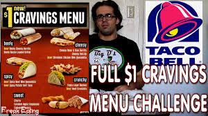 taco bell menu 2014. Brilliant 2014 Taco Bell Full Cravings Menu Challenge DollarMenu  FreakEating Vs The  World 63  YouTube Throughout 2014 U