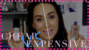 makeup tutorial makeup brands vs high end brands half face parison