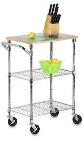 Amazon.com: Honey Can Do SHF 01607 Urban Rolling Cart, Chrome, 2 Shelf:  Home U0026 Kitchen