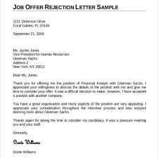 Goodly Job Rejection Thank You Letter Letter Format Writing