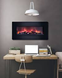 classicflame 36 inch curved black wall mount electric fireplace 36hf201cgt