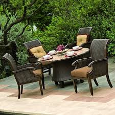 patio furniture table and chairs patio furniture home depot brown circle dining table with