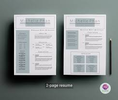 2 Page Resume Template Coverletter Template By Chic Templates
