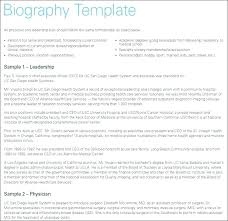 Short Bio Template Job Samples For Work Personal Biography Example