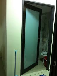 aluminium frame with acrylic panel swing door