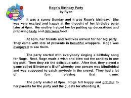 star compositions a birthday party   check out the adjectives  roges birthday party