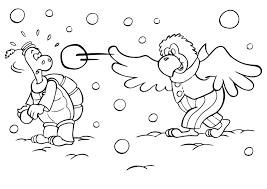 Kleurplaat Winter Vol Sneeuwpret Seizoen 3254