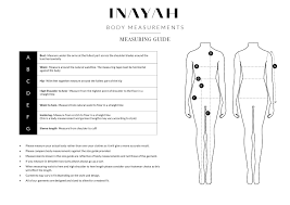 Size Guide Inayah