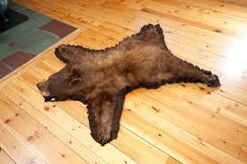 cinnamon color phase black bear rug