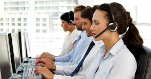 office centre video. simple centre happy call centre agent looking to camera in the office  4k stock video  clip in office centre video t