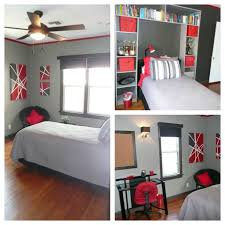 Small Picture Red black and Grey Teen Bedroom Trim and accent wall Behr Dark