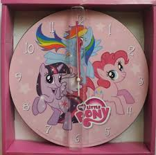 my little pony wall clock analog home decor twilight pinkie pie