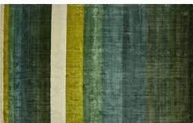 tidal hand loomed green striped rug and black rugby shirt area rugs