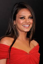 red hot starlet mila kunis paired her y lanvin dress with sleek locks and smoky eyes