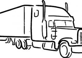 truck drawing outline. Interesting Outline Truck Sketch Drawing Semi Outline  Picture On T