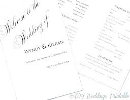 Wedding Booklet Template Ceremony Booklet Template Church Booklet Template Wedding