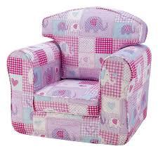 children s armchair patchwork elephants