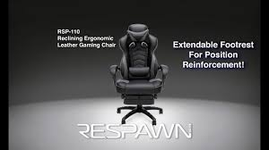 res 110 racing style gaming chair reclining ergonomic leather chair with footrest