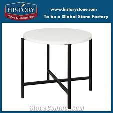 stone top round coffee table hotel furniture with metal frame