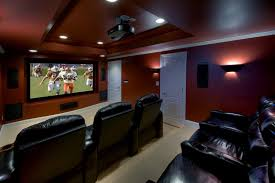 basement theater design ideas home theater contemporary with projector screen theater room recessed lighting