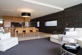 living room and dining design ideas with black brick wall excerpt dining room chandelier brick living room furniture