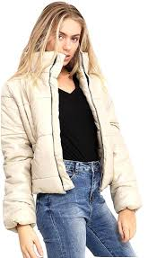 puffer winter coat cropped jacket puffer padded quilted warm winter puffer coats uk winter puffer coats with hood