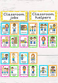 Helpers Chart 36 Up To Date Pictures For Classroom Helper Chart