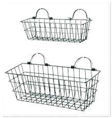 rustic wire baskets chandelier wall mount basket hanging shelves