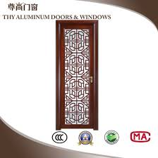 double tempered glass panel aluminium casement bedroom doors with diffe color
