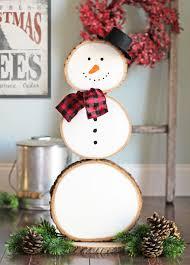reversible snowman wood slice decoration diy snowman decorations grillo designs grillo