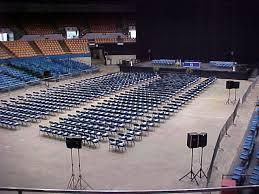 Nashville Municipal Auditorium Graduation Setup Floor