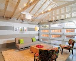 garage turned lounge, found on homedit