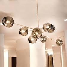 glass bubble pendant light ceiling lighting clear ball modern lamp
