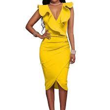 Summer <b>Sexy</b> V-neck Sleeveless Strapless Slim Dress – DaysCloth ...