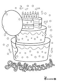 Taart Zelf Leeftijd Invullen Groep 34 Kleurplaat Verjaardag