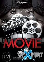 Free Movie Night Flyer Templates Free Movie Night V1 Psd Flyer Template Download